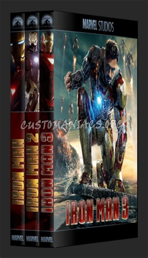 Iron Man 1,2,3 - Marvel collection dvd cover - DVD Covers