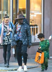 Idina Menzel and Taye Diggs take son Walker out trick or