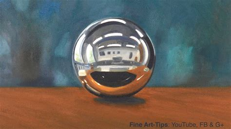 How to Paint a Chrome Sphere With Oil Paints - YouTube
